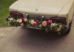 Honey of a Thousand Flowers - Journal - Abby &Ralph rose garland on car