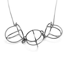 Crown cage necklace in sterling silver by Jonua Morrison Jewelry.   #jonuamorrison #jewelry #blackandwhite #sterlingsilver #necklace #monochrome #doodles  #artjewelry