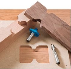Butterfly Joint bits and template