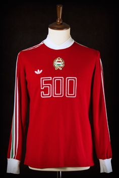 1976 Hungary vs. Austria  match worn by Ferenc Csongrádi (see our blog post for more details)