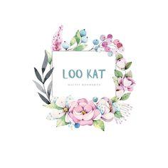 Logo Watercolor Plants, Watercolor Logo, Watercolor Drawing, Florist Logo, Flower Doodles, Floral Wall Art, Frame Wreath, Wall Art Quotes, Flower Frame