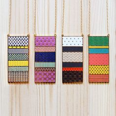 Knitted Series Necklaces