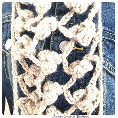 Annoo's Crochet World: Flower Scarf Free Pattern