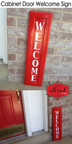 I never thought of this, but I love the idea of a red front door and shutters with this sign. Maybe instead of the red kitchen.