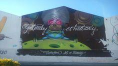 Grafiti Yesterday is history. Málaga BoulevArt