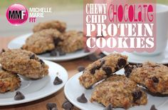 Chewy Chocolate Chip Protein Cookies   100% Healthy & Delicious!