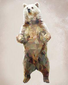 Geometric Bear 8x10 Digital Download by evadesignstudio