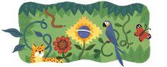 Doodle da Independência mostra animas e plantas do Brasil (Foto: Divulgação/Google)http://historiasgaucha.blogspot.com.br/