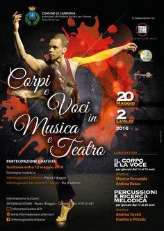 Corpi e Voci in Musica e Teatro - Informagiovani Carbonia - Graphic design: Stefano Sodini [Digital Color sas]