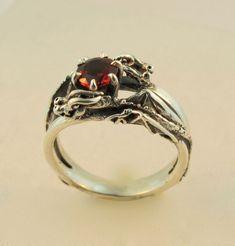 Silver Double Dragon Eternity Ring. $245.00, via Etsy.