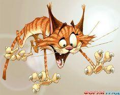 Рыжие коты художника иллюстратора Денниса Джонса