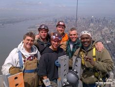 The crew on top of NYC Freedom Tower 1776 feet high One World Trade Center, Trade Centre, The Freedom Tower, I Love Ny, Great Pic, In God We Trust, First World, New York City, New York