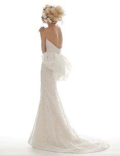 Love that dress shape! From the Elizabeth Fillmore spring 2013 wedding dress collection, via Junebug Weddings