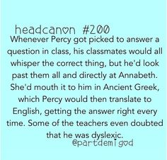 This would be the only reason Annabeth would cheat.