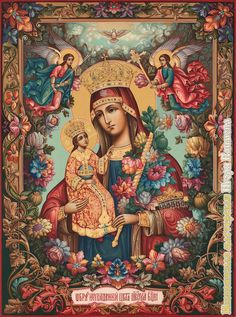 Blessed Mother Mary, Divine Mother, Blessed Virgin Mary, Religious Icons, Religious Art, Christian Artwork, Mama Mary, Holy Mary, Madonna And Child