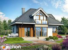 dom w jastrunach House Balcony Design, House Design, Cottage Homes, Cottage Style, Modern Architecture House, Architecture Design, Attic House, Dream House Plans, House In The Woods