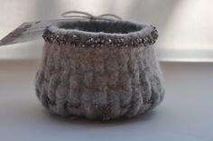 Felted basket by Heartfelt Designs - this bowl now lives in Australia somewhere.