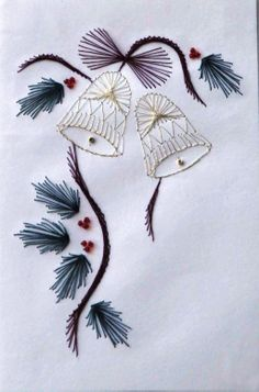 Christmas Cards - Bells #Christmas #Bells #ChristmasCards #Crafts #Cards #Festive #HandMade