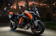 """This Orange colorway is available in addition to the Anthracite version of the bike I rode at the launch. The titanium slip-on muffler is an option from KTM's Power Parts catalog."""