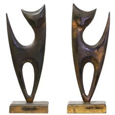 Mid Century Abstract Cat Sculptures For Sale