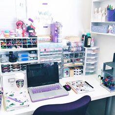 @mypurpleylife's office set-up ~ luv it!