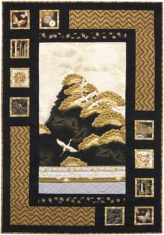 Oriental Harmony quilt, Antique color story. Made with Imperial Collection. Fat quarter-friendly pattern designed by Sweet Tea Girls.