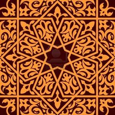 Buy Arabic and Islamic Seamless Ornament by VectorTradition on GraphicRiver. Arabic and islamic seamless ornament for background design. Editable (you can use any vector program) and JPEG (. Tile Patterns, Pattern Art, Textures Patterns, Design Patterns, Islamic Art Pattern, Arabic Pattern, Geometric Designs, Geometric Art, Islamic Designs