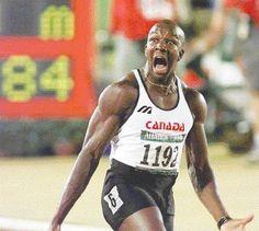 Donovan Bailey 1996 Olympics Atlanta Gold Medal and World Record in the 100-metre dash...