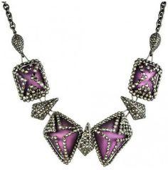 Gabrielle's pick: Santa Fe Deco Pave Jewel Caged Segment Bib Necklace