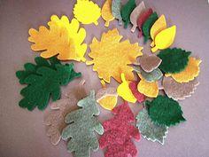 29 mixed autumn felt leaves acorns die cut maple oak by Wcards, $7.00