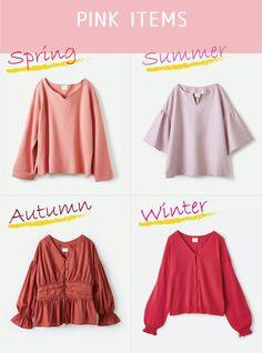 Pinks for your season Deep Autumn Color Palette, Deep Winter Colors, Spring Colors, Light Spring, Warm Spring, Warm Autumn, Seasonal Color Analysis, Quoi Porter, Color Me Beautiful