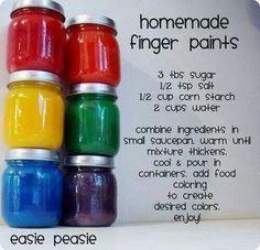 Baby Food Jar- Homemade finger paint!