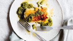 Grilled haloumi with salsa verde recipe Recipe | Good Food