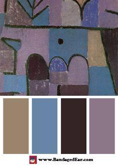 Color Palette: Garten im Orient, c.1937, Art Print by Paul Klee