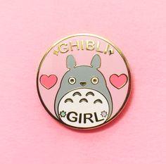 Ghibli Girl Enamel Pin SECONDS