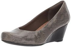 This is your go to wedge for the season! sitting atop a 2 inch heel, this wedge pump has an ortholite footbed and cushion soft technology for added comfort.                      Features  Heel height 2.2″ Ortholite footbed Cushion soft   - #Shoes  #Fashion #Style #Highheels #Heels #Booth