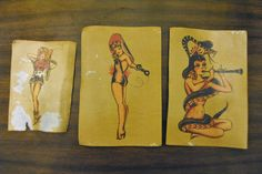 Getting those awesome Sailor Jerry pinups off the bottle!
