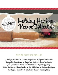 The Bloggers' Holiday Heirloom Recipe Collection FREE E-Cookbook // thank you!  from shaken together