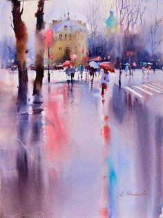 Fascinating Watercolor Paintings by Viktoria Prischedko Watercolor Art website : http://www.prischedko.de/