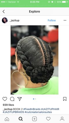 All styles of box braids to sublimate her hair afro On long box braids, everything is allowed! For fans of all kinds of buns, Afro braids in XXL bun bun work as well as the low glamorous bun Zoe Kravitz. Flat Twist Hairstyles, Braided Bun Hairstyles, Natural Afro Hairstyles, My Hairstyle, Top Hairstyles, Haircuts, Black Girl Braids, Braids For Black Hair, Girls Braids