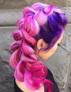 28 Ideas hair color crazy purple blondes - All For Hair Cutes Purple Blonde Hair, Purple Balayage, Dyed Blonde Hair, Balayage Hair, Pink Hair, Hair Dye, Black Girl Braided Hairstyles, Easy Hairstyles, Hairstyles 2018