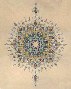 Motifs Islamiques, Islamic Motifs, Islamic Art Pattern, Pattern Art, Mughal Paintings, Islamic Paintings, Arabesque, Middle Eastern Art, Illumination Art