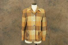 vintage 50s Wool Jacket  Pendleton 49er Jacket  1950s by jessamity
