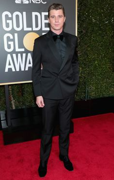 You can expect to see tuxedos at any big awards show, but the 2018 Golden Globes red carpet was stacked with them in an effort to disrupt tradition, not uphold it. Golden Globe Award, Golden Globes, Under A Spell, Garrett Hedlund, Best Dressed Man, People Magazine, Celebs, Celebrities, Studio Portraits
