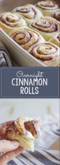 Overnight Cinnamon Rolls With Cream Cheese Frosting - make them the night before and bake them in the morning! Overnight Cinnamon Rolls With Cream Cheese Frosting - make them the night before and bake them in the morning! Overnight Cinnamon Rolls, Homemade Cinnamon Rolls, Cinnamon Bread, Bread Machine Cinnamon Rolls, Homemade Buns, Best Cinnamon Rolls, Cinnamon Recipes, Baking Recipes, Pastries