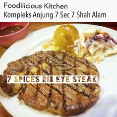 7 Spices Rib Eye Steak RM24.90  #7spices #ribeye #steak #originalrecipe #foodiliciouskitchen #makansedap #affordable #halal #westernfood #shahalam #recommended on #tripadvisor #jjcm #nstp #kosmo