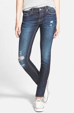Vigoss+Distressed+Skinny+Jeans+(Dark)+available+at+#Nordstrom