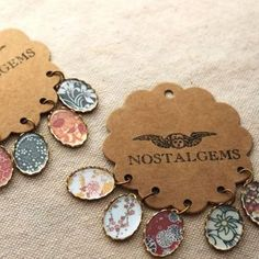 Gorgeous handmade pendants with Japanese floral patterns.  #nostalgems #necklace #handcrafted #handmadejewellery #handmadejewelry #jewellery #jewelry #vintage #vintagestyle #pendants #japaneseflowers #florals #flowers