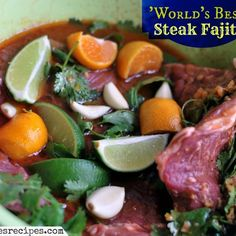 World's Best Steak Fajita Marinade