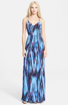 a20a93aaffcaa5 Parker  Miles  Print Silk Maxi Dress available at  Nordstrom Nordstrom  Dresses